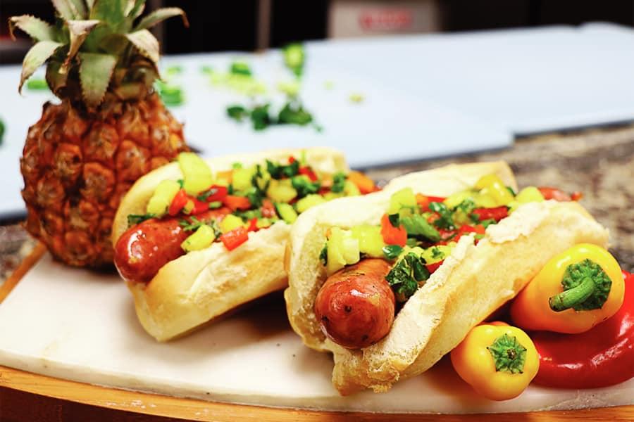 Big Kahuna luau Hofmann Hot Dog